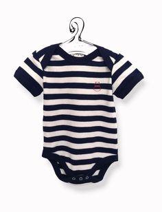 Body a righe bianche e blu   Body colorato biologico bambino. cotone anallergico, abbigliamento bio firmato economico. biobiobimbo.com
