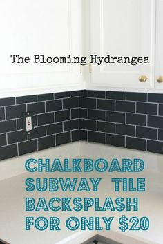 Chalkboard Paint Backsplash chalkboard paint backsplash: create subway tile | chalkboard paint
