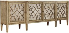 Sanctuary Four-Door Mirrored Console by Hooker Furniture