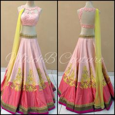 Lehenga by MischB Couture, indian lehenga, indian fashion, desi style, desi couture