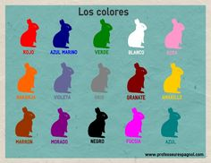 Los colores, nivel A1. Spanish Colors, Spanish 1, Spanish Lessons, Spanish Teaching Resources, Spanish Activities, Hands On Activities, Learn Spanish Online, Hispanic Culture, Elementary Spanish