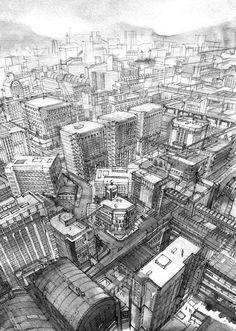 17-Kiyohiko-Azuma-Architectural-Urban-Sketches-and-Cityscape-Drawings-www-designstack-co