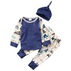 >> Click to Buy << Newborn Clothes Baby Girl Boys Clothing Long Sleeve Tops Cotton T-shirt Cute Pants Infant Outfits Set Clothes 3PCS New Arrival #Affiliate