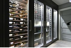 """Love the glass door and lighting but i want my """"closet"""" to have more depth and some form of wood. So many ideas..."""