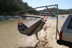 hammock chair trailer hitch stand diy - Google Search