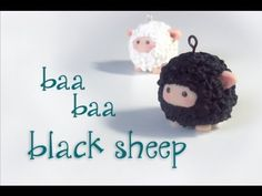 DIY Cute Black Sheep in Polymer Clay - Tutorial