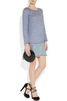 THEYSKENS' THEORY  Sequined silk-blend chiffon dress
