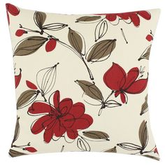 Cotton pillow with a floral motif. Made in the USA. Product: PillowConstruction Material: Cotton cover and polyester ...