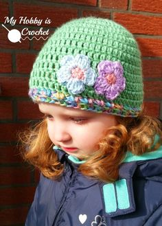 My Hobby Is Crochet: Touch of Spring Hat | Free Crochet Pattern | My Hobby is Crochet ༺✿ƬⱤღ  http://www.pinterest.com/teretegui/✿༻