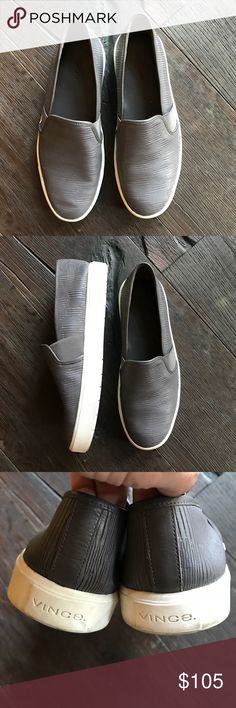 VINCE BLAIR SLIP ON SHOE tennis  SIZE 8 Worn a few times.  These are in great PRELOVED condition.  Barely any wear just to bottom.   Bundle and save.   🤗🤗🤗Go for mod metropolitan style with a slip-on sneaker sporting a perforated leather upper and a bumper sole. Timeless aesthetics meet modern sophistication in Vince's collections of iconic, wearable essentials--always focusing on distinctive design, enduring style and uncompromising quality. Vince Shoes Sneakers