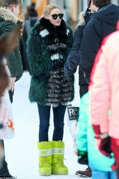 Olivia Palermo wearing Tecnica Moon Boots