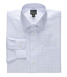 Clothing, Shoes, Accessories Impartial Classic Fit Blue Herringbone Plaid French Cuff Cotton Dress Shirt