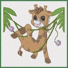 Jumping Jungle - Free machine embroidery designs - Kreative Kiwi