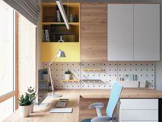 22 new Ideas unisex kids room decor simple Study Table Designs, Study Room Design, Kids Room Design, Home Office Space, Home Office Design, Home Office Decor, House Design, Office Designs, Office Table