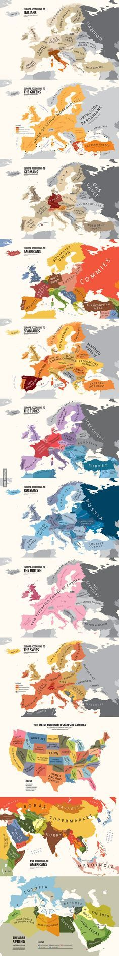 Different ideas of areas according to geography.  Pretty funny and accurate.