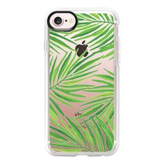 Watercolor Tropical Palm Leaves - iPhone 7 Case And Cover (€33) ❤ liked on Polyvore featuring accessories, tech accessories, iphone case, apple iphone case, clear iphone case, iphone cover case and iphone cases