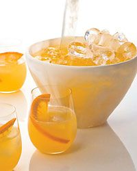 "Mother's Ruin Punch- another pinned said "" a prohibition era drink featuring gin, champagne, and grapefruit juice. I have served it twice at two separate Christmas parties in an old fashioned punch bowl. Very potent and people love gathering around the punch bowl! I would hoover around this bowl too simply because it's yellow!~lol"""