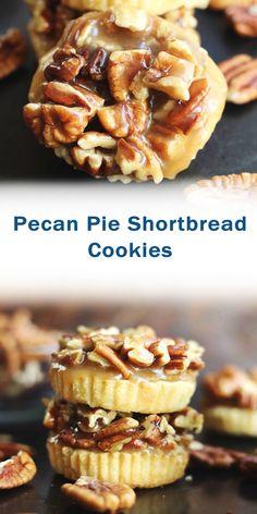 Cookie Desserts, Easy Desserts, Cookie Recipes, Delicious Desserts, Best Dessert Recipes, Holiday Recipes, Oreo, Yummy Cookies, Pecan Shortbread Cookies