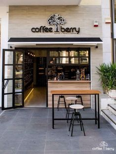 Each restaurant has a brand.Great, powerful, and effective restaurant branding is all about marrying your marketing with your operations. Cafe Shop Design, Cafe Interior Design, Modern Interior, Deco Restaurant, Restaurant Branding, Small Restaurant Design, Small Cafe Design, Mini Cafe, Small Coffee Shop