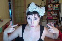 Easy knitted bow headband!