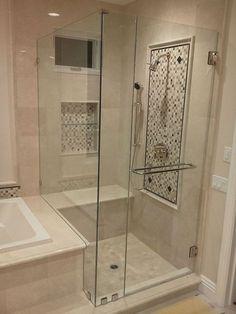 Shower Doors Aliso Viejo - Frameless Shower Glass Aliso Viejo, CA - Local Glass & Screen™ Frameless Shower Doors, Luxury Shower, Shower Remodel, Tub Remodel, Bathroom Inspiration, Bathroom Ideas, Wooden Bathroom, Bath Ideas, Bathroom Bin