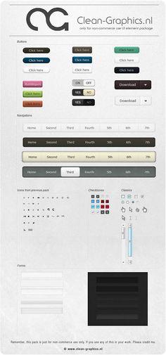 Web UI Design button