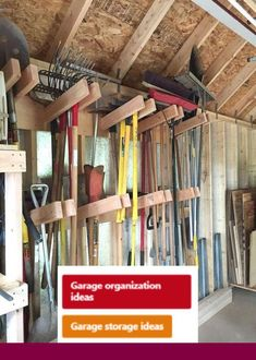 Best Tool Shed Organizing Ideas On Shed and garage in storage building organization ideas - Storage And Organization Tool Shed Organizing, Storage Shed Organization, Diy Garage Storage, Storage Ideas, Organizing Ideas, Barn Storage, Storage Hacks, Storage Solutions, Diy Storage House