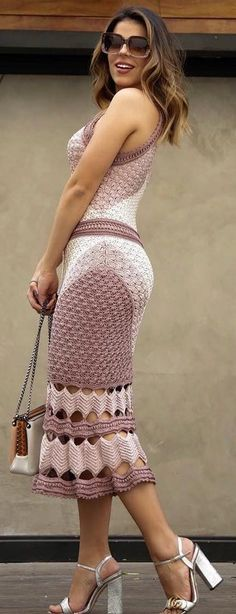 Summer Style Crochet Dresses Patterns and Design Ideas Part 18 Summer Style Crochet Dresses Patterns and Design Ideas Part crochet dress pattern; crochet dress pattern for women; Crochet Summer Dresses, Summer Dress Patterns, Vintage Crochet Dresses, Dress Vestidos, Crochet Woman, Crochet Fashion, Crochet Clothes, Day Dresses, Midi Dresses