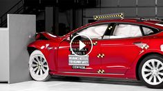 The Tesla Model S, a large luxury sedan, earns good ratings in all IIHS crash worthiness evaluations except the challenging small overlap front crash test, in which it earns an acceptable rating. Despite lengthening the
