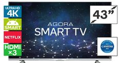 """Buy Kogan 43"""" Agora Smart 4K LED TV (Series 9 MU9000) from Kogan.com. With a slimline design that packs brilliant 4K image quality, this direct-lit LED TV is your gateway to cinematic viewing. Top-quality UHD 4K resolution – four times the resolution of Full HD Built with a superb LG panel Enjoy incredibly realistic cinematic action Intuitive smart functions Search, stream and browse the internet on your TV Media playback via HDMI and US...."""