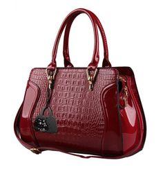 Eabag Patent Leather Crocodile Pattern Tote Bags Top Handle Handbags (wine-red) EABAG http://www.amazon.com/dp/B00LAP7AIO/ref=cm_sw_r_pi_dp_2Xdbub1C5TNEH