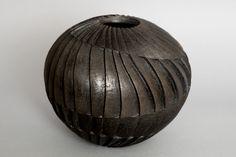 sjp-ceramics sculpture carved ceramic smoke fired ceramics