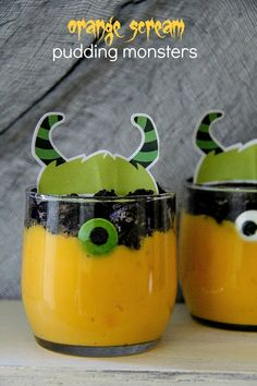 Orange Scream Pudding Monsters #TruMooHalloween #CleverGirls