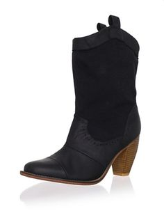 81% OFF J SHOES Women's Corral Fab Boot (Black) here's a little southern girl rock.