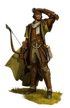 Human Male Cleric of Erastil or Archer Ranger - Pathfinder PFRPG DND D&D d20 fantasy