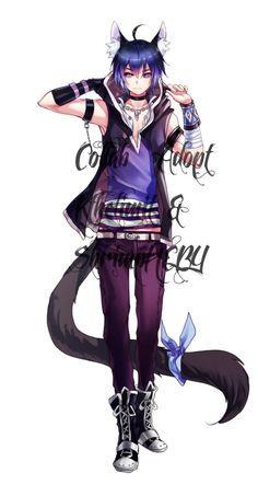 Collab adopt with super awesome artist~~ I did the design and lineart. Collab Adopt with Kthelimit (CLOSED) Anime Oc, Anime Neko, Manga Anime, Hot Anime Boy, Anime Cat Boy, Cute Anime Guys, Neko Boy, Art Manga, Manga Boy