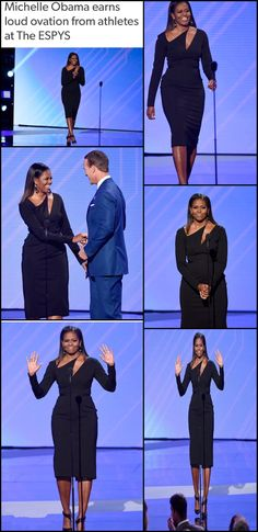 #LOSANGELES #FirstLady #MichelleObama returned to the spotlight as a presenter at The #ESPYS July 12, 2017
