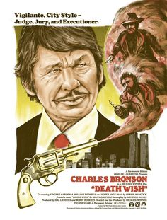 'Death Wish' prints by Zeb Love for Mad Duck Posters Classic Movie Posters, Movie Poster Art, Poster On, Film Posters, Classic Movies, Retro Posters, Screen Print Poster, Poster Prints, Assassin Movies