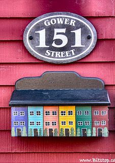 colorful mailboxes remind me of Rainbow Row Charleston SC Wooden Mailbox, Vintage Mailbox, Wooden Signs, Unique Mailboxes, Painted Mailboxes, Jigs Dinner, Newfoundland And Labrador, Newfoundland Canada, Dutch House
