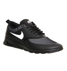 reputable site b92bf aa0ce ... Nike Air Max Thea Black White Jacquard - Hers trainers - £85 - office .  ...