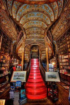 Beautiful Libraries and Bookshops...Lello Bookstore, Porto, Portugal, photo by Benito Juncal, benitojuncal via Flickr.