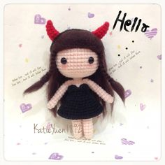 小恶魔 - Little evil #amigurumidoll #amigurumi #addicted #craft #crochet #crocheting #cute #diy #doll #häkeln #hobby #haken #handmade #yarn