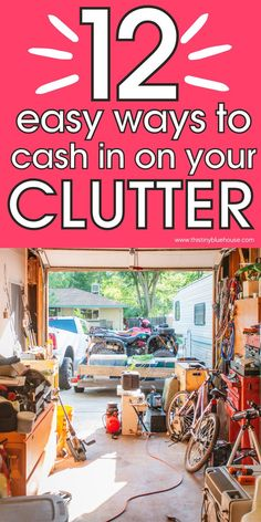 Make some extra money by cashing in on your clutter. These 12 types of clutter can help you make extra money while delcuttering your home. Ways To Save Money, How To Make Money, Sell Your Stuff, Things To Sell, Grocery Savings Tips, Cold Hard Cash, Money Saving Mom, Messy Room, Frugal Living Tips