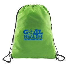Pack in maximum brand recognition with the help of this awesome marketing tool! Our budget Cinchpack is made from 210D polyester and is available in your choice of bold color. Customize with your company name and logo for an excellent opportunity to promote your business. What a fantastic giveaway choice for upcoming tradeshows, conventions, conferences, sporting events, charity functions, marathons and so much more. You can't go wrong this prominent pack!