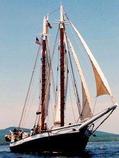 Mercantile, 80-foot schooner docked in Camden Harbor, Maine