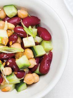 Recette de Ricardo de salade de légumineuses, pommes et canneberges