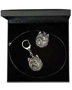 NEW, Cairn Terrier, dog keyring and necklace in casket, DELUXE set, limited edition, ArtDog * Read more reviews of the product by visiting the link on the image.