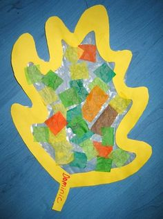 Fall Mock Stained Glass Leaf Art Projects - Maybe the weather has not be cooperating to get outdoors and you would like to make these stained glass leaves.