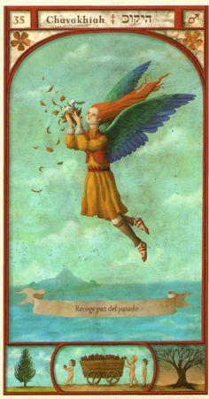 (35) CHAVAKHIAH (Kabbalistic angel) protects those born 13 - 17 September, guardian of the family, promotes harmony in the home. (ángel Cabalístico) protege aquellos nacidos 13 - 17 septiembre, guardián de la familia, promueve la armonía en el hogar.