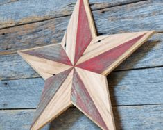 rustic western star, red barn star, amish style star